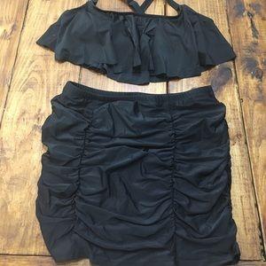 High Waisted Skirt Bikini Set